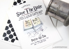 harry potter save the date cards