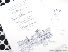 Hartford Skyline Wedding Invitations