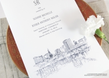 Hartford Skyline Wedding Programs