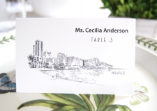 Hawaii Skyline Place Cards