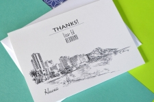 Hawaii Destination Wedding Card Thank You Cards