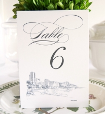 Hawaii Skyline Table Numbers
