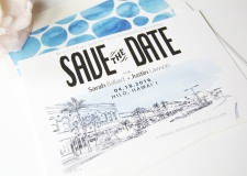Hilo Skyline Save the Date Cards