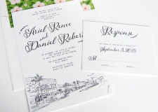 Hilo, Hawaii Skyline Wedding Invitations