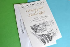 Hollywood & Vine Skyline Save the Date Cards
