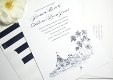 Hotel Del Coronado Skyline Wedding Invitations