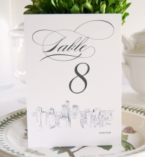 Houston Skyline Table Numbers