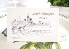 Indianapolis Skyline Place Cards