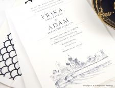 Indianapolis Skyline Wedding Invitations