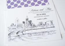 Indianapolis Skyline Save the Date Cards