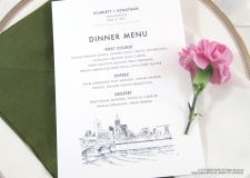 indianapolis skyline menu cards