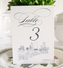 Jacksonville Skyline Table Numbers