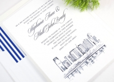 Jersey City Skyline Wedding Invitations
