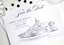 Kansas City Fountain Save the Date Cards