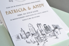 Kansas City Skyline Rehearsal Dinner Invitations