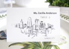 Kansas City Skyline Place Cards