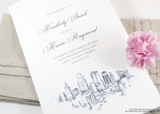 Kansas City Skyline Wedding Programs