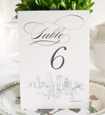 Kansas City Skyline Table Numbers