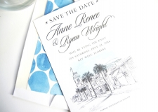 Key West Skyline Save the Date Cards