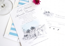 Key West Skyline Wedding Invitations
