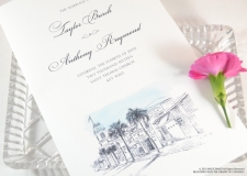 Key West Skyline Wedding Programs