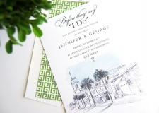 Key West Skyline Rehearsal Dinner Invitations