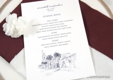 key west menu cards