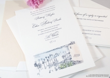 La Jolla Skyline Wedding Invitations