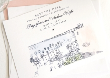 La Jolla Skyline Save the Date Cards