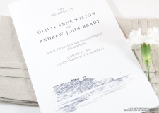 Laguna Beach Skyline Wedding Programs