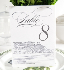 Laguna Beach Skyline Table Numbers