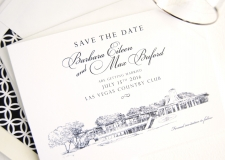 Las Vegas Country Club Skyline Save the Date Cards