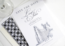 Las Vegas Skyline,  Mandalay Baby Skyline Save the Date Cards