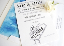 Las Vegas Skyline Rehearsal Dinner Invitations