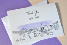 Las Vegas Destination Wedding Card Thank You Cards
