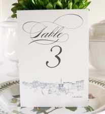 Las Vegas Skyline Table Numbers