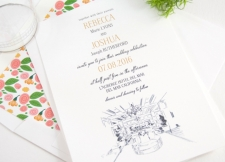LAuberge Del Mar Skyline Wedding Invitations
