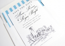 Lexington Skyline Save the Date Cards