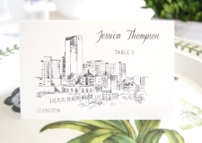 Lexington Skyline Place Cards