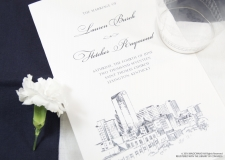 Lexington Skyline Wedding Programs