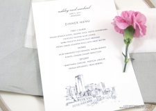 lexington skyline menu cards
