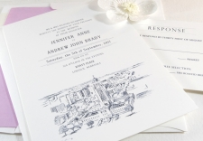 Lincoln, Nebraska Skyline Wedding Invitations