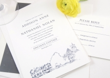 Lincoln's Cottage Skyline Wedding Invitations