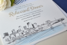 Little Rock Skyline Rehearsal Dinner Invitations