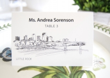 Little Rock Skyline Place Cards