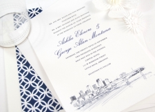 Little Rock Skyline Wedding Invitations