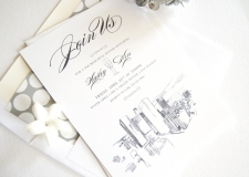 Los Angeles Skyline Rehearsal Dinner Invitations