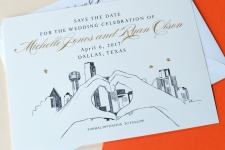 Dallas Skyline LUV Skyline Save the Date Cards