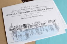 Madison Skyline Save the Date Cards