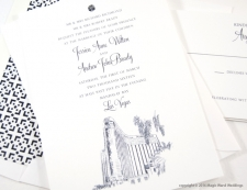 Las Vegas Mandalay Bay Skyline Wedding Invitations